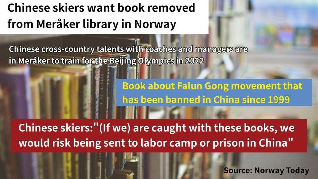 Brainwashed #CCP #Norway #China #Falungong #books #library #knowledge #censorship #brainwashing https://t.co/ESU6HCL9KW