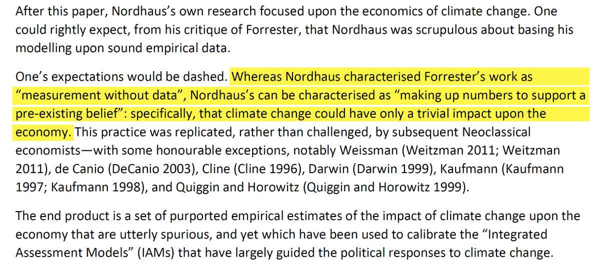 """8/44 1. IntroductionNordhaus dismissing Limits to Growth & co on the lack of """"sound empirical data"""" and subsequently """"making up numbers to support a pre-existing belief"""". Brilliant."""
