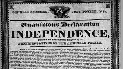Today in History: independence declared in Philadelphia by Second Continental Congress, 1776 #otd #tih https://t.co/iZ3AFKJTfc #FourthOfJuly #IndependenceDay https://t.co/Tv17RNe3bK