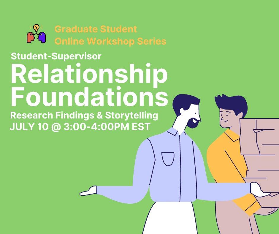 Come and join @MacGSA Student-Supervisor Relationship Foundations #mcmcaster #graduatetogether #gradstudents #supervisor https://t.co/6RgVIbdxrN