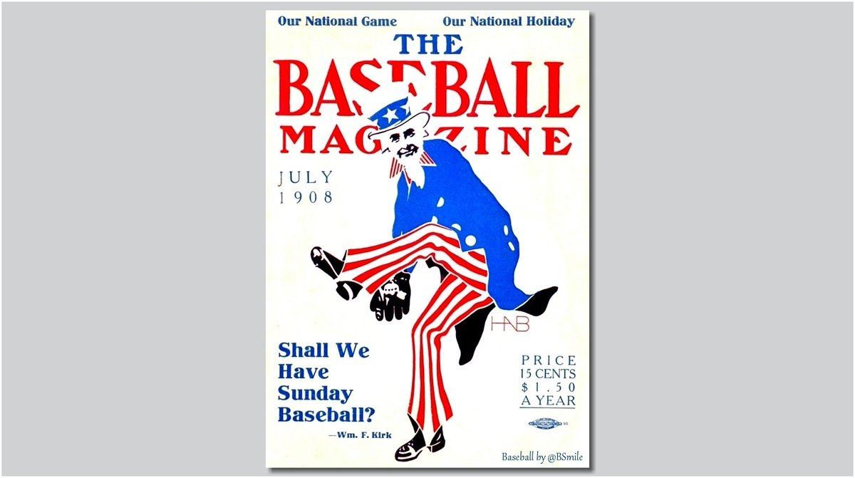 """""""Our National Game - Our National Holiday"""" (The Baseball Magazine - July 1908) #MLB #History #FourthOfJuly https://t.co/ymj5skicU3"""