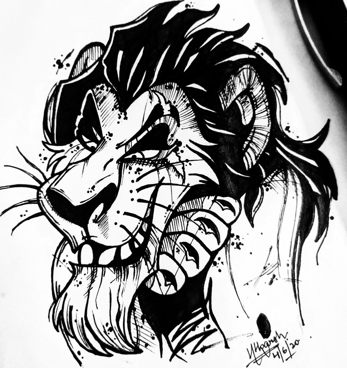 Oh, Simba, you're in trouble again. But this time, Daddy isn't here to save you! And now everyone...knows...why! .  #TheLionKing #INK #Lions #shera #AnimalCrossingNewHorizons #simba #artshare #draw #inking #Black #pen #SaturdayVibes #coronavirus