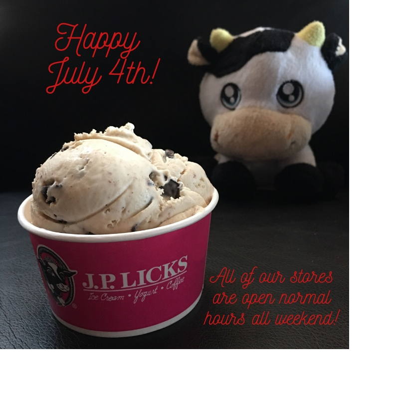 Happy July 4th everyone! All of our stores are open normal hours this weekend - we'd love to be part of your holiday so come in and grab a little #icecream treat. Celebrate deliciously and safely! #independencedaypic.twitter.com/y3t2JfkBTx