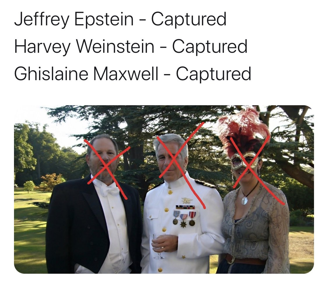 Alright, my #Enlightened #Peace #Warriors and Benevolent #Elites. #HarveyWeinstein, #JeffreyEpstein, #MaxwellArrested captured. Who's next on our #sextrafficking and #PedoRing #list?  #EpsteinBlackBook #LolitaExpress #EpsteinCoverup #ExposeBillGates #PrinceAndrew #BillClinton https://t.co/Y2AY6j97Cg
