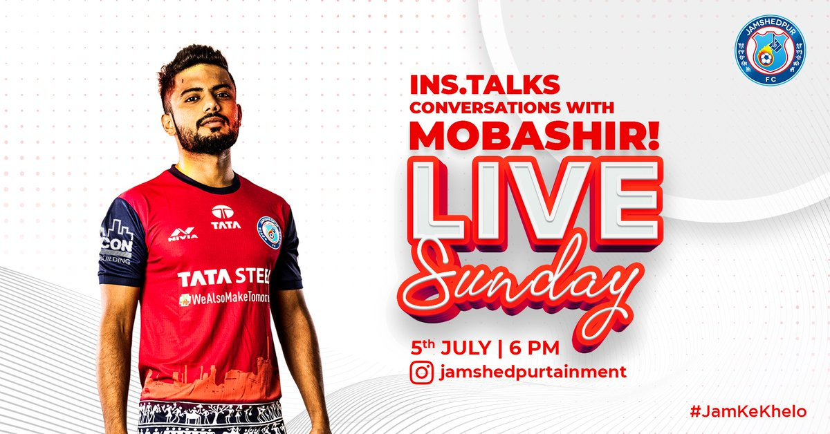 Tune in this Sunday as @MDMOBASHIRRAHM3 goes LIVE with @JSR10MENT to talk about anything and everything life and football. 💬 🙌 #JamKeKhelo