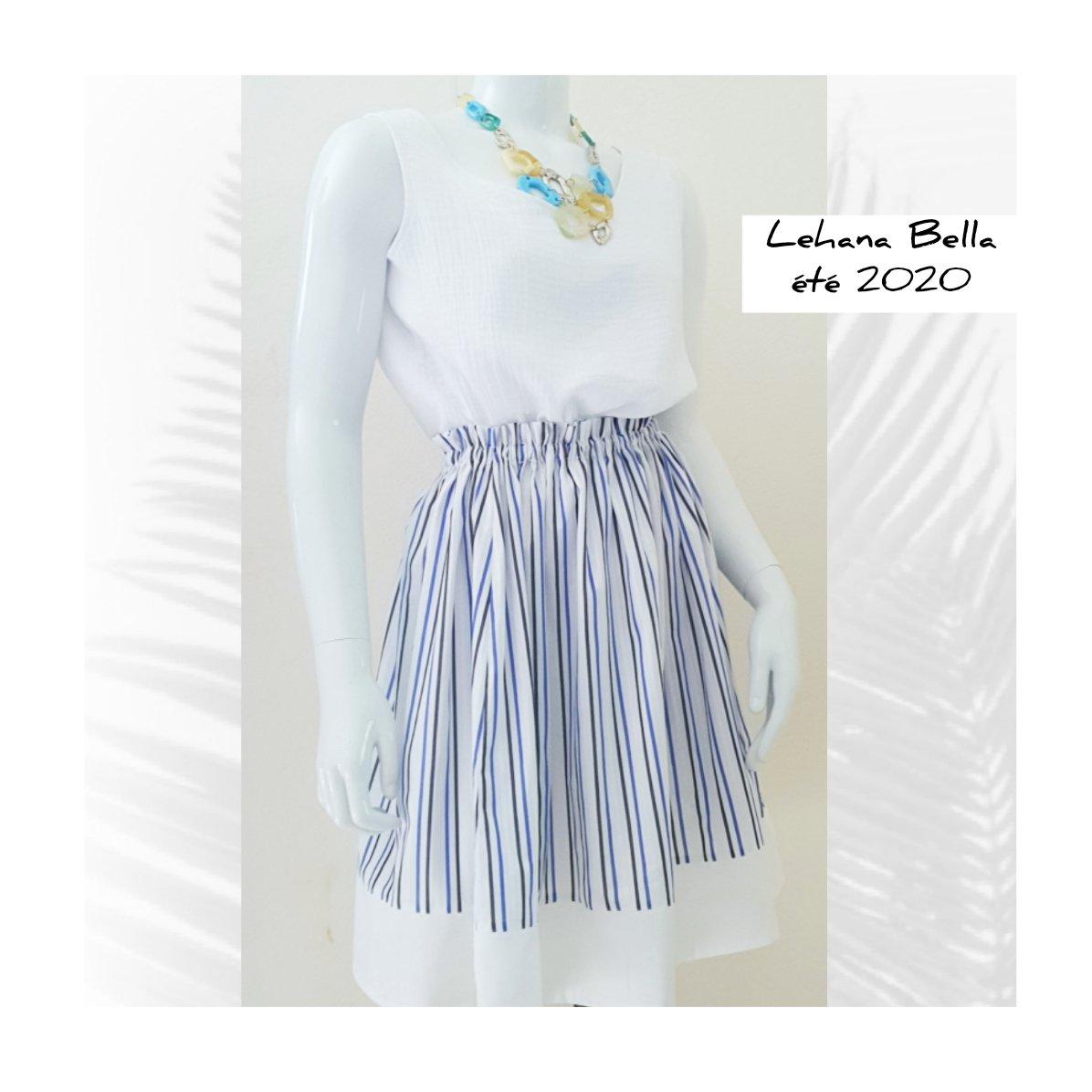 Made in France et réalisée à la main,  la petite jupe du week-end de la capsule BELLA DONNA est disponible en ligne sur http://lehanabella.com #madeinfrance #handmade #popeline #sun #frenchstyle #instafashion #fashionbloggers #sunstyle #dolcevita #lookdujour pic.twitter.com/RDi5udEzo6