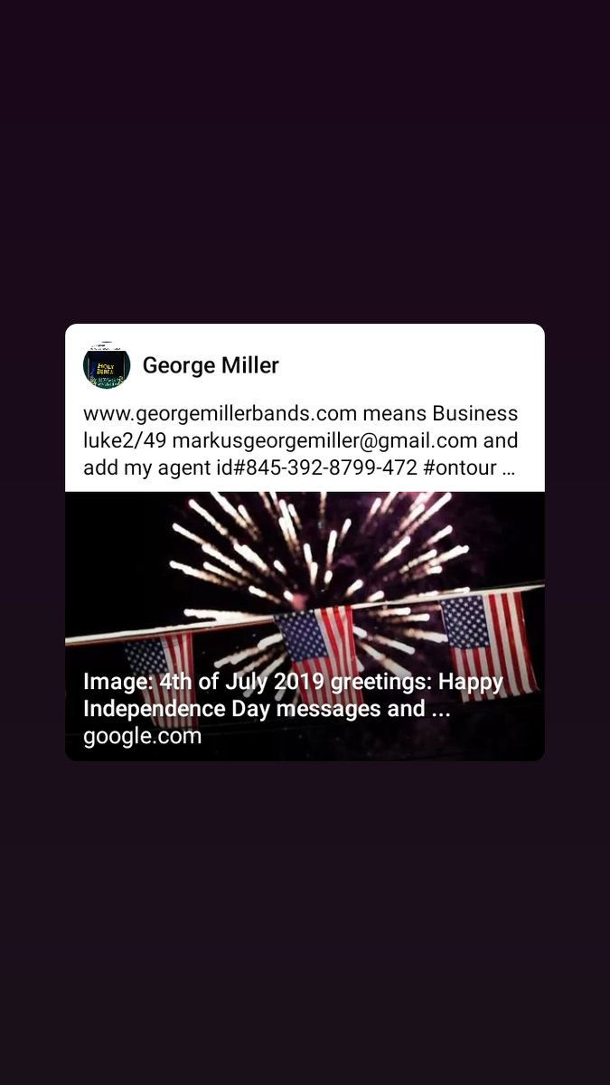 http://www.georgemillerbands.com  means Business luke2/49 markusgeorgemiller@gmail.com and add my agent id#845-392-8799-472 #ontour #welcome 2Htown the movie stars 8325916076...Amen priceless edition negotiations John8/32 movie TRUTH story... pic.twitter.com/SDARWzV2lF