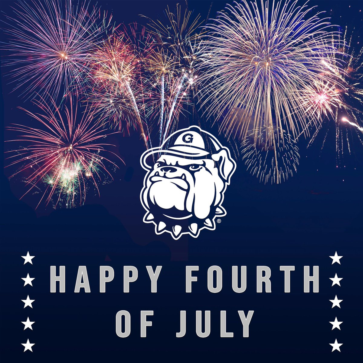 Happy 4th from the Hilltop! #defendthedistrict #hoyas #family
