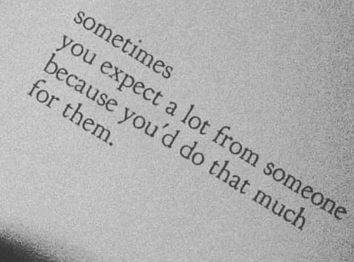 expectations & disappointments.