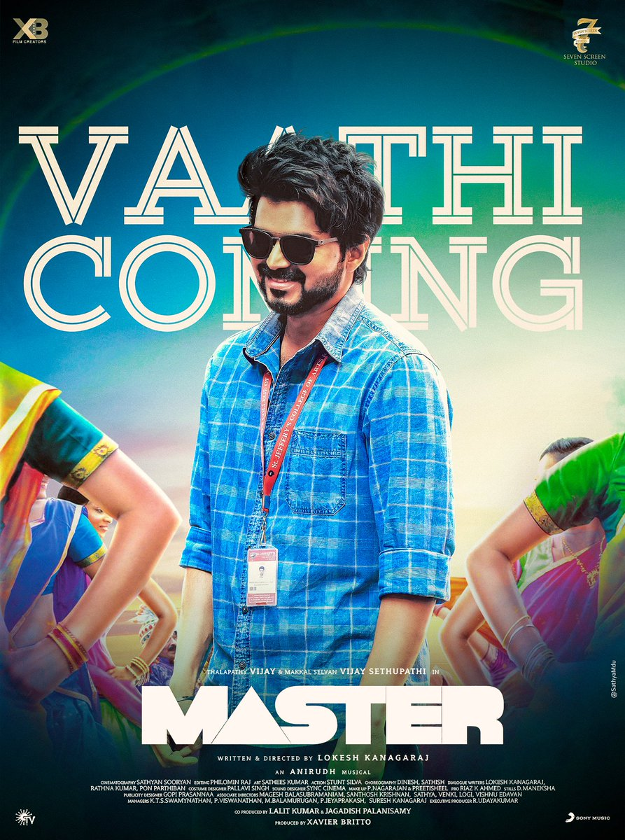 The Master   King Of Kollywood  King Of Box office  King Of Dance King Of Social Media   The Name Is