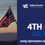 Image for the Tweet beginning: Happy Independence Day! All Valley