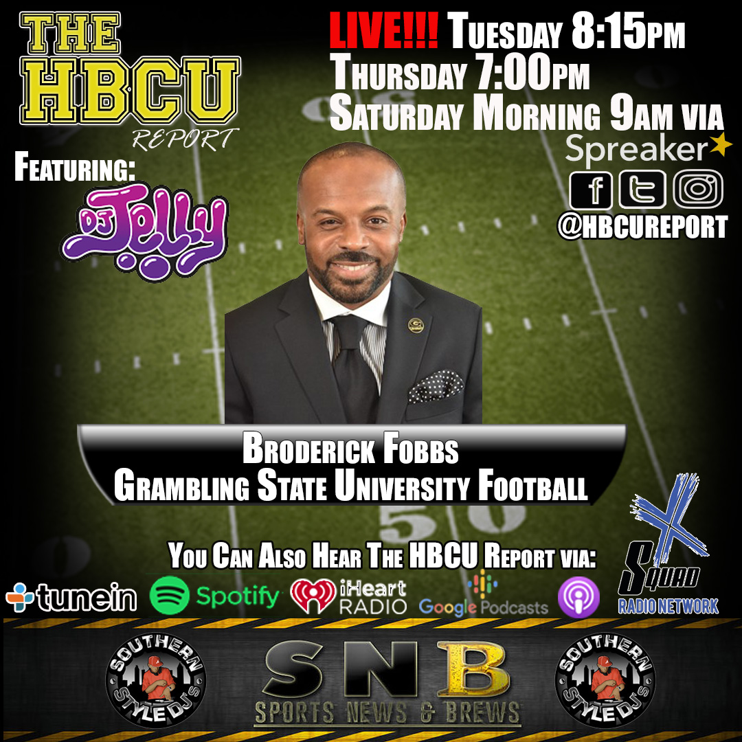 The HBCU Report is LIVE til 10am @GSUCoachFobbs joins the show to discuss the impact of #covid19, the latest SWAC additions, and more plus @therealdjjelly and the #halftimemix Listen Live: https://t.co/CAwDSFDPmH #hbcu #HBCU #sports https://t.co/sBWOZ8mpI8