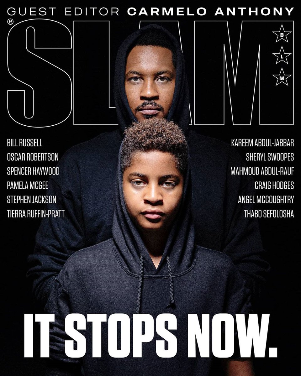 Drawing strength from the past. Fighting for justice in the present. Demanding equality for the future. Honored to serve as guest Editor in Chief of this special issues of SLAM. slam.ly/itstopsnow-mag #itstopsnow #stayme7o