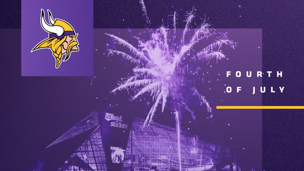 Have a safe and happy Fourth of July, #Vikings fans!