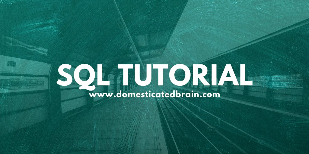 SQL Tutorials   Link - https://bit.ly/31NHiiY  #SQL #Database #100DaysOfCode #CodeNewbie #tech #learntocode #coding #codinglife #code #softwaredevelopment #softwareengineeringpic.twitter.com/6WN8j3ncnD