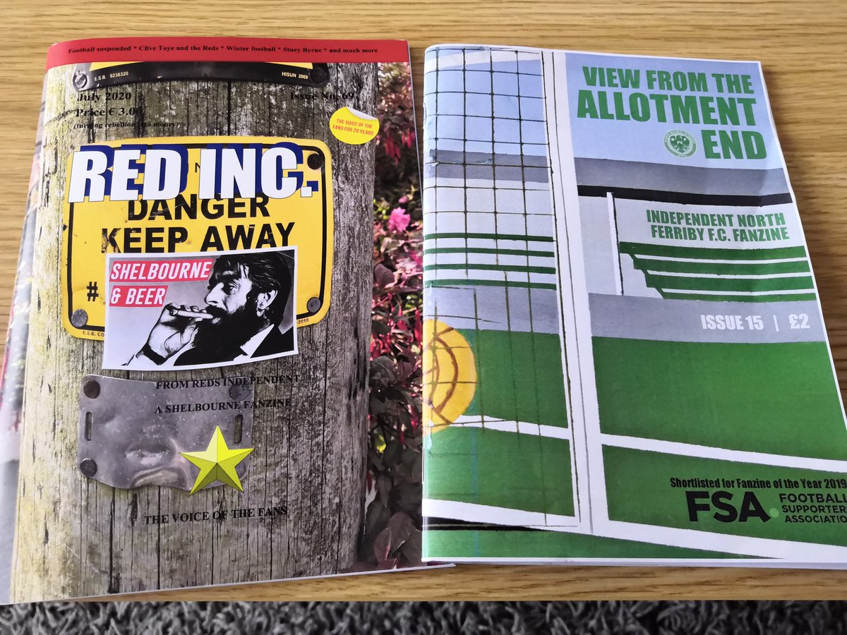 Two of the best zines out there, cheers @VFTAE & @RedsIndependent #PrintIsNotDead