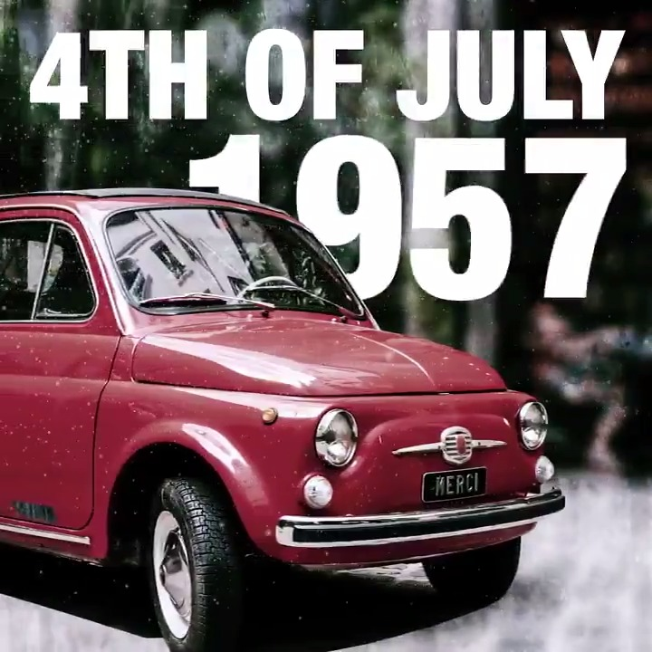 Image for the Tweet beginning: Celebrating our beginnings. #IndependenceDay #FIAT500