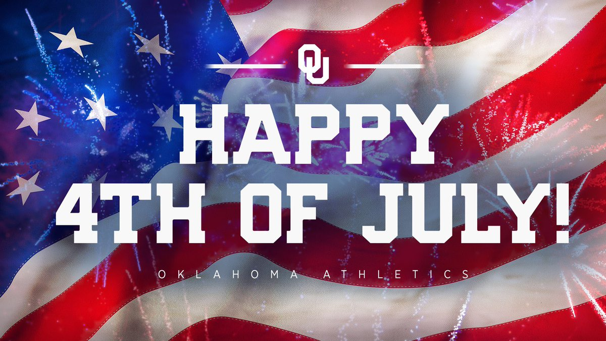 Wishing #Sooners everywhere a safe and happy #4thofJuly🇺🇸! Boomer! 🎆