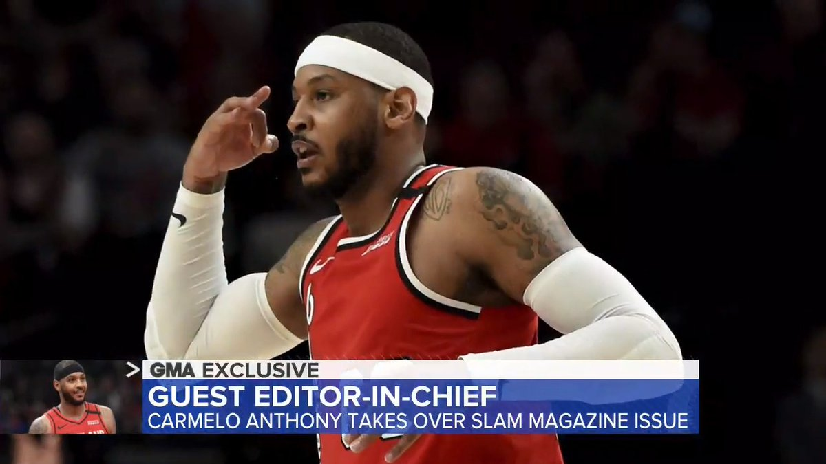 .@carmeloanthony is serving as the guest editor-in-chief for Slam Magazine. The @NBA all-star helped launch a special edition of the Fourth of July issue focusing on racial inequality. @EvaPilgrim has the story. gma.abc/2BASyrS