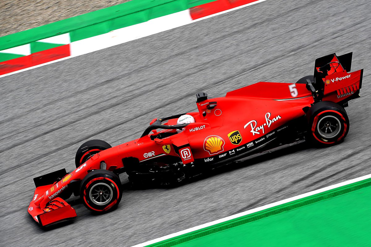 Not a perfect final #Q2 flying lap for #Seb5 lap, and with so many cars so close it meant that he was P11. #Charles16 P10 advances to #Q3. #AustrianGP 🇦🇹 https://t.co/A8SBtTNWS5