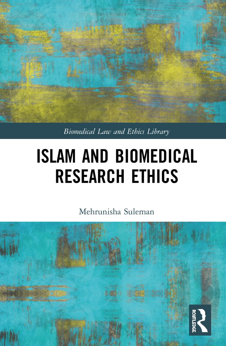 Delighted to share the publication of my first book: https://www.routledge.com/Islam-and-Biomedical-Research-Ethics/Suleman/p/book/9780367191474 …  Thank you @UniofOxford @Oxford_NDPH @michaelethox Prof Ray Fitzpatrick @maureen0kelley @routledgebooks @ArzooAhmed @BalliolOxford   #globalhealth #Islam #ethics #researchethics #HIV #AIDS #womenshealth pic.twitter.com/mTIWCCnPNW