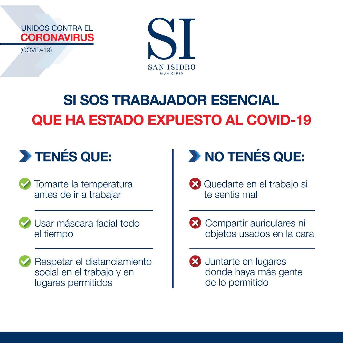 Estas son las cifras de coronavirus en San Isidro al 03/07/20: -Confirmados: 839 -Descartados: 3002 -En estudio: 243 -Recuperados: 234 -Fallecidos: 18 -Activos: 587 https://t.co/gzBHkJiSGA