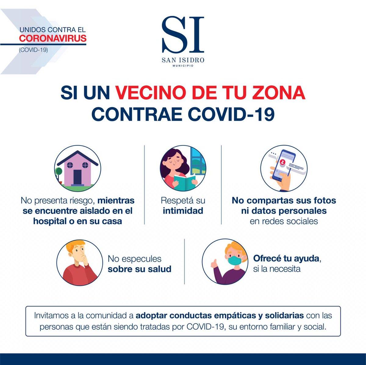 La pandemia del coronavirus está afectando al mundo entero, no discrimina. Seamos solidarios y ayudémonos entre todos. https://t.co/0F6eNc1Z44