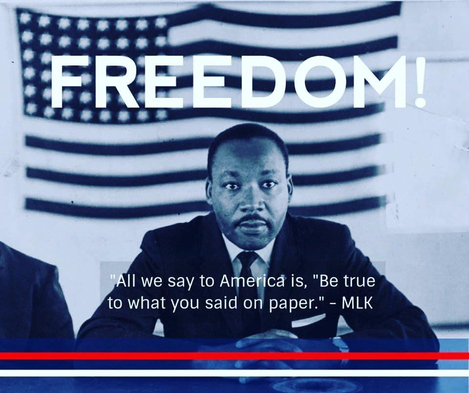 """¡LIBERTAD! """"Lo que le decimos a Estados Unidos es se lo que dices ser en papel."""" 🎇🇺🇸"""