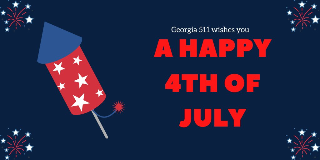 Image posted in Tweet made by 511 - A Service of Georgia DOT on July 4, 2020, 2:02 pm UTC