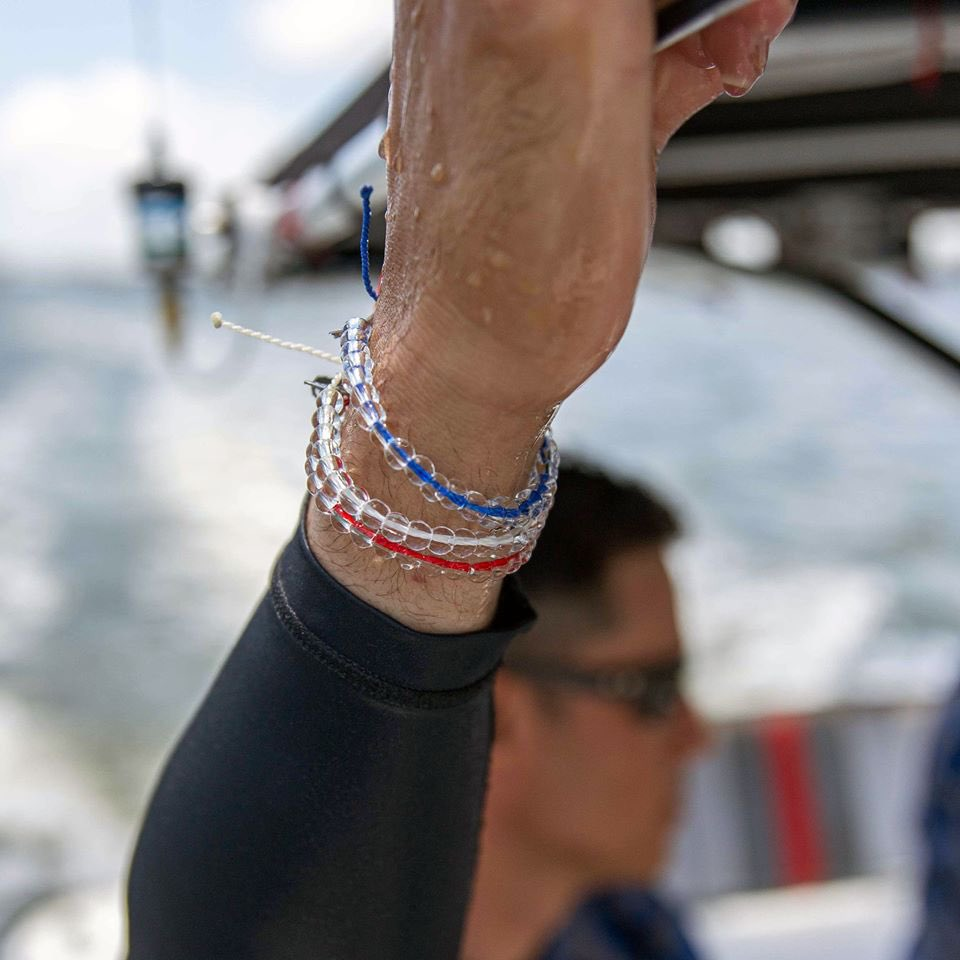 Today only, we're offering 25% OFF our exclusive Independence Day 3-Pound Pack! It features our red Sustainable Fishing Beaded Bracelet, our white Polar Bear Beaded Bracelet, and our blue Signature Beaded Bracelet. Get yours today at 4ocean.com!