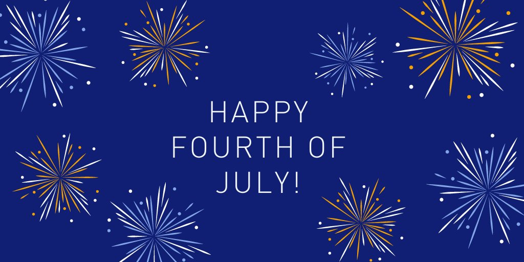 Happy 4th of July! As you celebrate please remember to stay healthy and safe by: wearing a mask, washing your hands, and physical distancing by 6 ft.