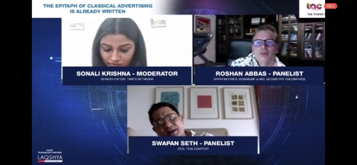 A masterclass in healthy, informed, debating - a skill that once thrived on news channels that didn't fall prey to TRP drama.  Thank you @roshanabbas @swapanseth for this wonderful session. I'll be wowing at your oratory prowess and treasure of information for days to come. https://t.co/O0uGFi5yU9