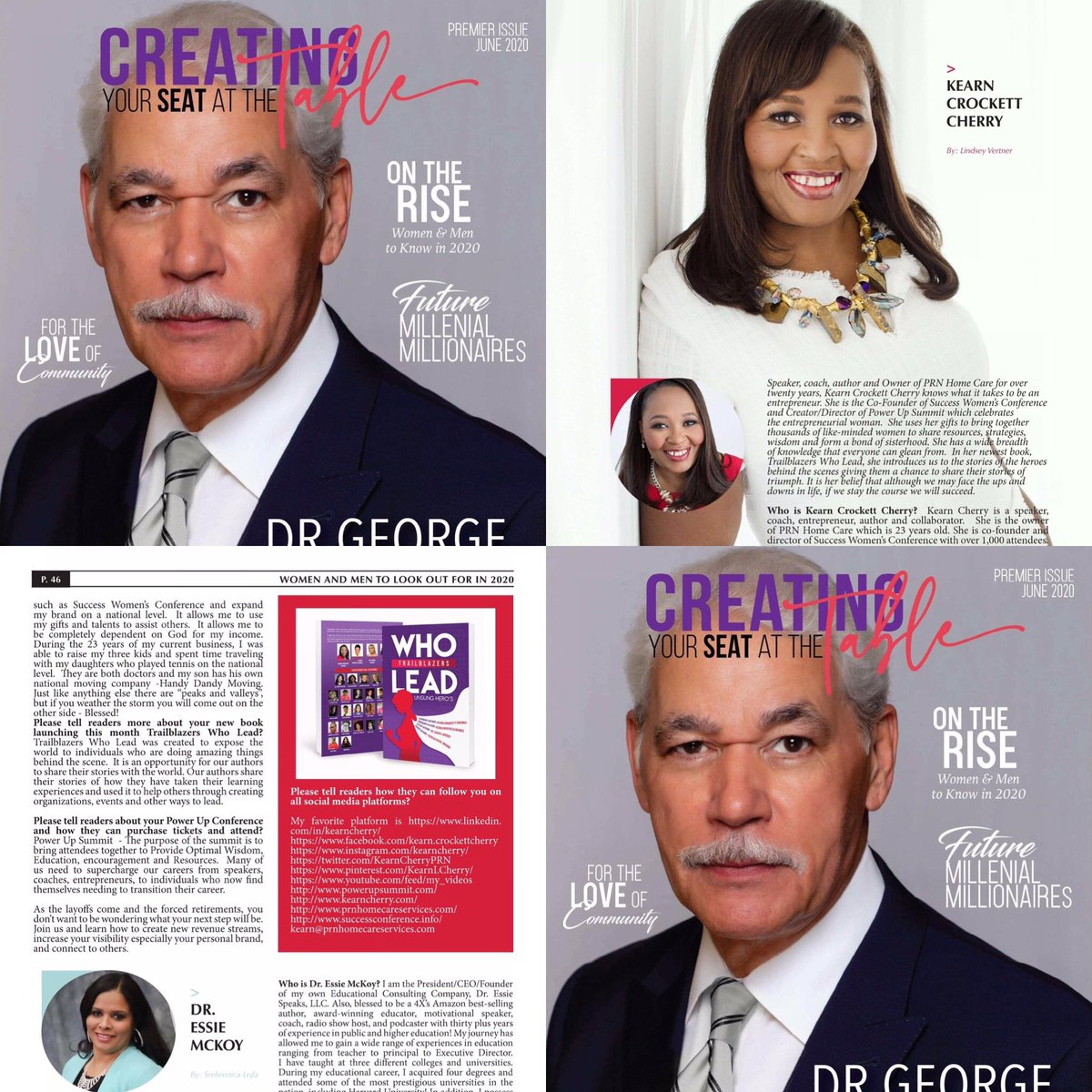 """When God gives you an opportunity to share your story take it.  I am Excited to be featured in the inaugural """"Create Your Seat At the Table International Magazine.  Congratulations to my good friend, Ashley Little!   http://www.ashleylittleenterprises.com @TalkRadioTVLLC @drgeorgecfraser pic.twitter.com/bm5U4QGKBN"""