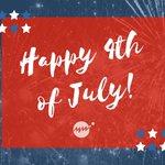 Image for the Tweet beginning: Happy #FourthofJuly!  Hope you