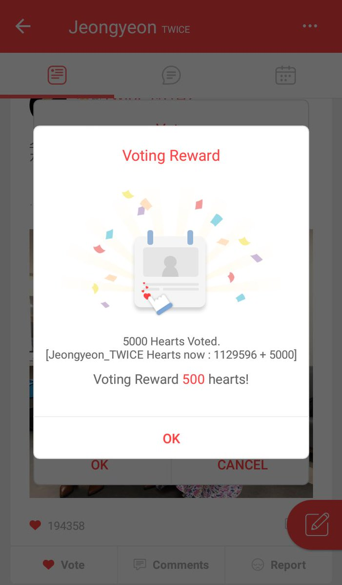 """I didn't manage to screenshot my 1st and 3rd account """"voting reward"""" but omg look who's climbing top10 tonight pic.twitter.com/Mh3bQkdUXQ"""