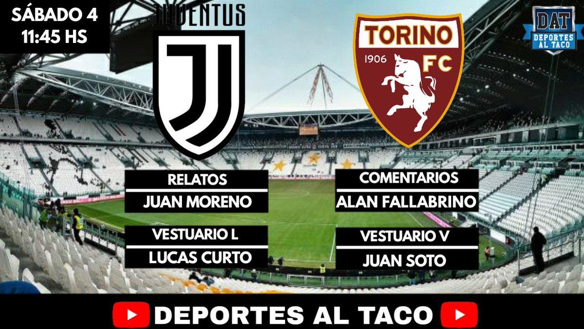 TRANSMISIÓN EN VIVO  Serie A #Juventus  #Torino  11:45 hs  @Ezekissarmy @AlanFallabrino  Lucas Curto @Juanfasoto12    LINK: https://www.youtube.com/channel/UCLJ0ABXgiTa74F4_X91N-3Q…pic.twitter.com/jfliuJJmJD