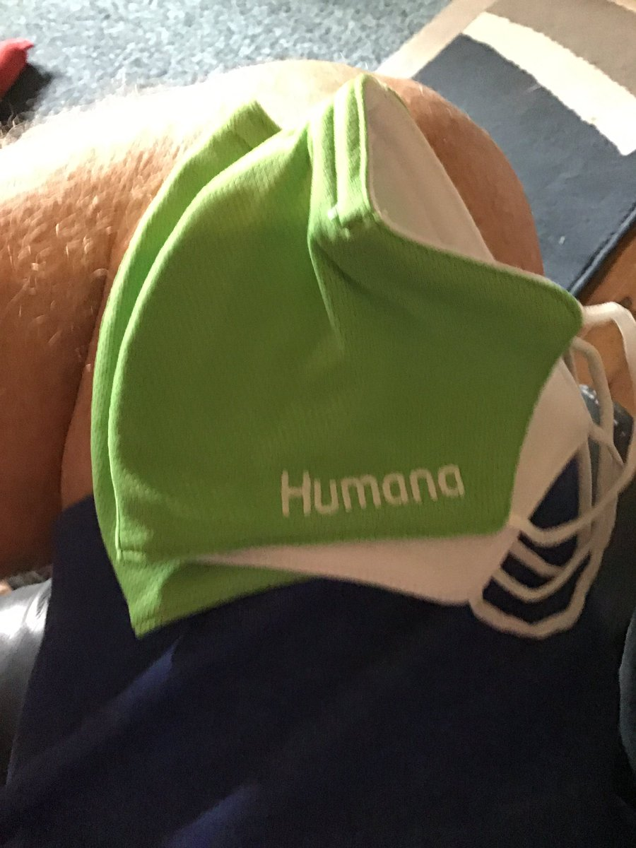 When you get old, you get this kind of stuff in the mail. Thank you @Humana for these masks. #CrazyPLN