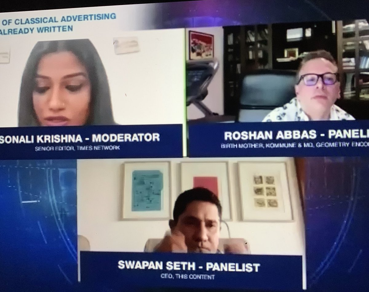 I've done many things on a Saturday evening but a debate was the first. And so enjoyed it. We need to hear you speak more often @swapanseth @roshanabbas good show @sonalikrishna @parthasinha @TheAdClub_India https://t.co/94YSo38K7i