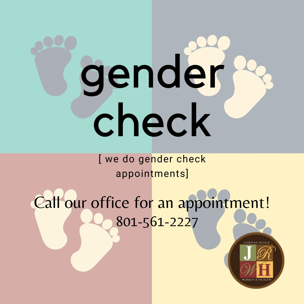 You can schedule a gender check appointment by calling our office 801-561-2227  #gendercheck #womenshealth #gynecologypic.twitter.com/CoZhcsdsyP