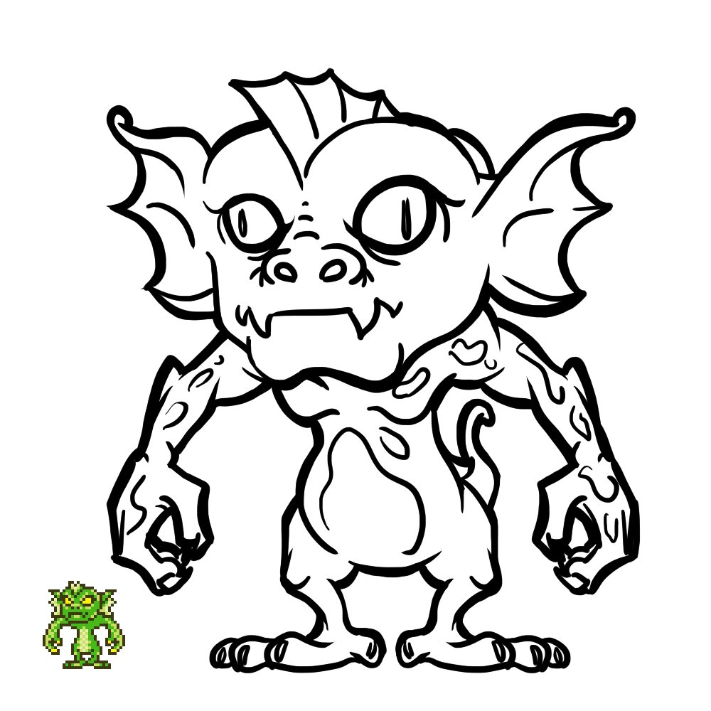 Another non pixel art #screenshotsaturday. Another two enemy illustrations that I made for The Curse of Illmoore Bay's manual.  #gamedev #indiedev #retrogaming #retrogames #art #horror #halloween #monsterspic.twitter.com/o2FMB5m3rQ
