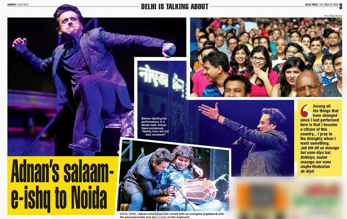"#OnThisDay in 2016, @AdnanSamiLive performed in India for the first time after becoming an Indian citizen. ""Jab bhi dil se manga hai, usne diya hai. Dekhiye, maine manga aur usne mujhe Hindustan de diya,"" he said to the crowd  #AdnanSami #music #Throwback #ThisDayThatYear <br>http://pic.twitter.com/xyakkKDlcl"