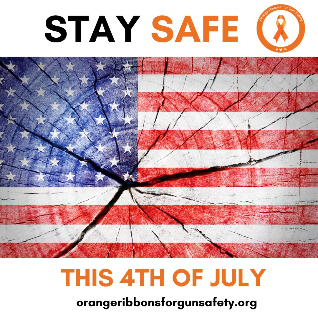 Wishing you and your loved ones a SAFE 4th of July weekend.   #OrangeRibbonsForGunSafety https://t.co/tH2Y2auI0j