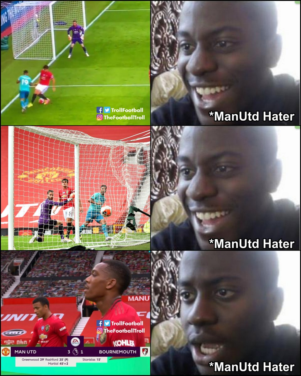 Man Utd haters in the 1st half