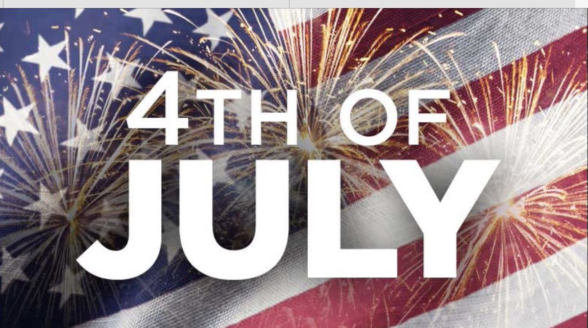 Over the last few weeks we have focused on America's faults. We must work to improve those things but today we should celebrate our country's birthday. We enjoy a lot of blessings and I'm thankful I live in America. I pray that God will show us how to help our country grow! 🙏🏽