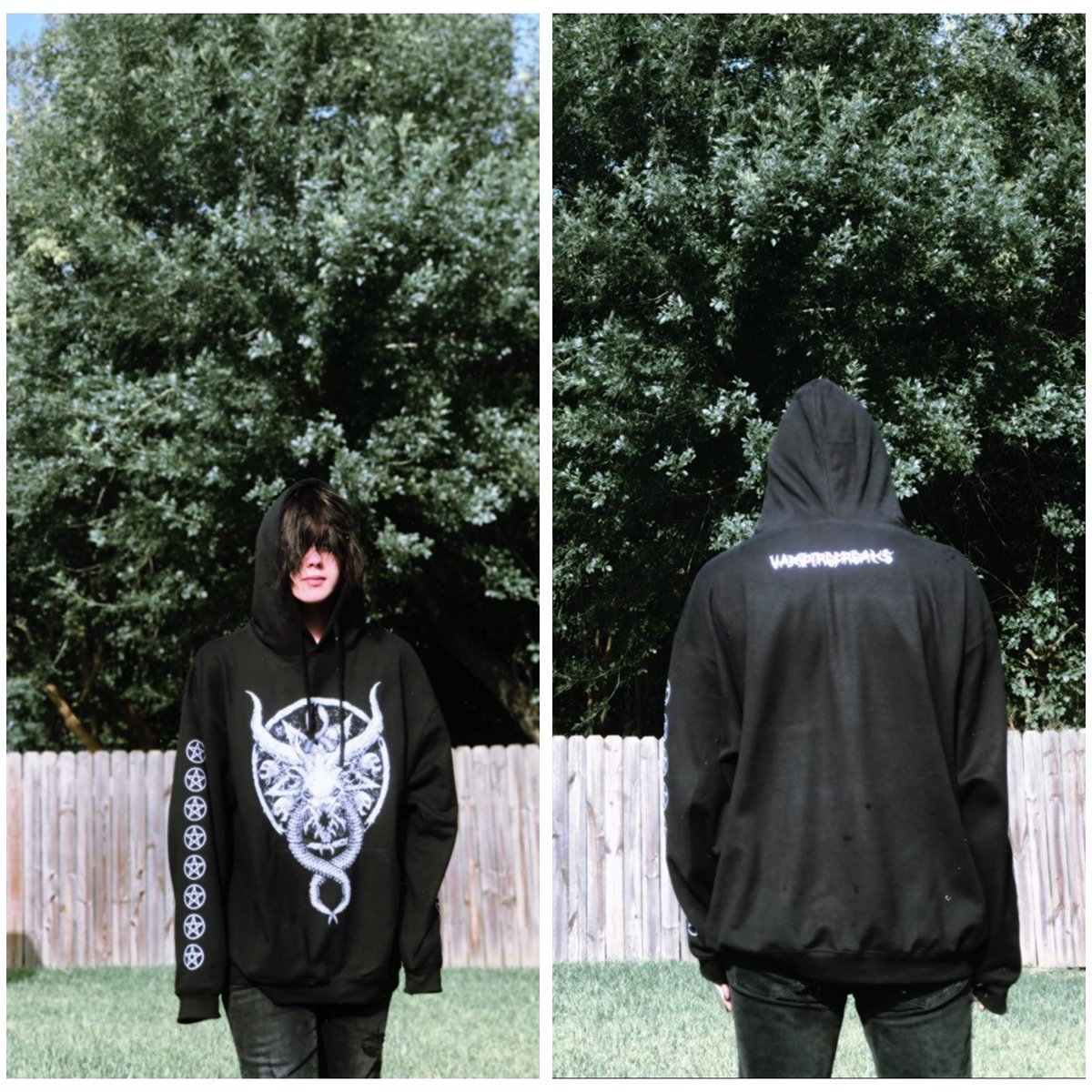 Doesn't @gavinhugsgremlins look killer in our Destrukture Beast of Belial Pullover Hoodie!  Available in the store! Link in bio  #vampirefreaks #alternativefashion #alternative #goth #gothic #scene #emo #alternativemusic #alternativemodel  #gothguy #vampirefreaksstorepic.twitter.com/kZpDDDTemv
