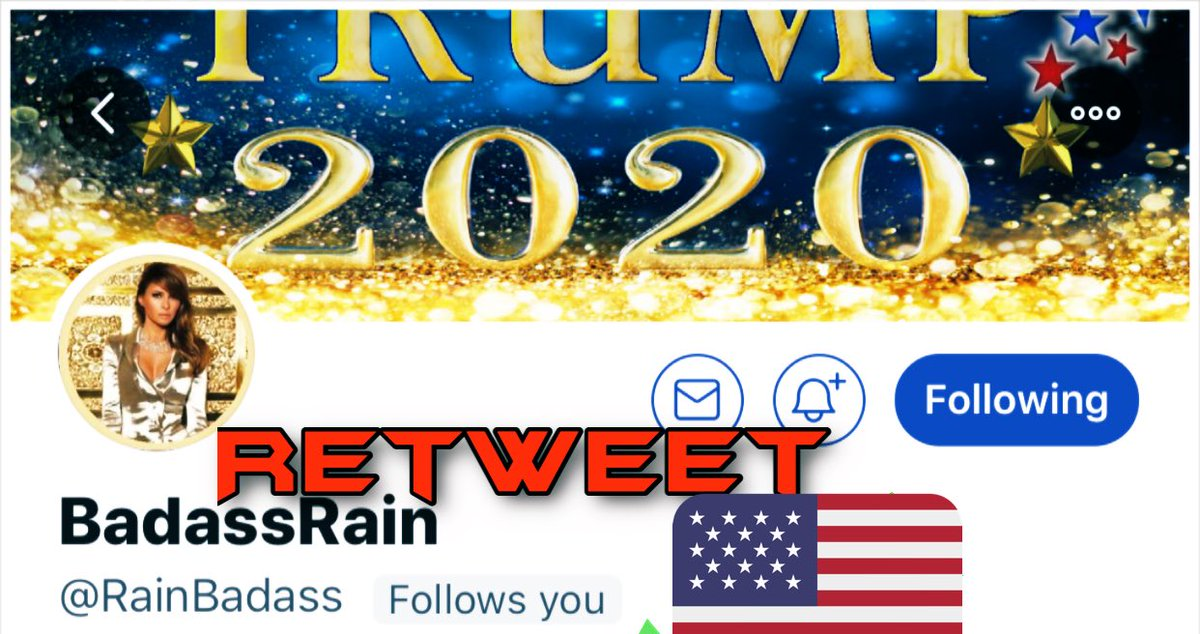 @GGlocksX @RainBadass Go Rain! You got this!   Friends let's all retweet to reach more Patriots to follow @RainBadass https://t.co/phVdMVAUg3