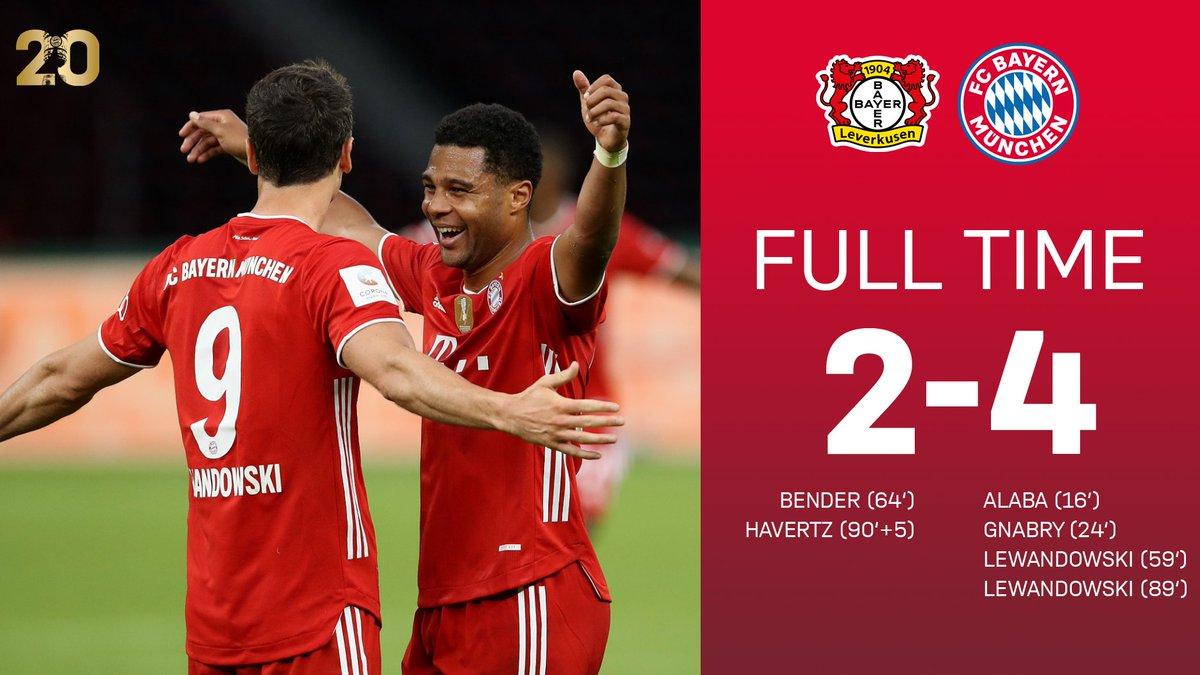 Full Time Bayer Leverkusen 2 4 Bayern Munich Germany Dfb Pokal July 4 2020 Football365