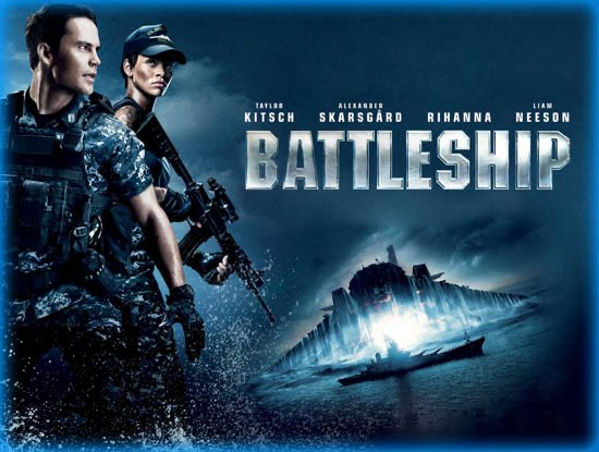 Battleship! An absurd and ridiculously fun movie. Especially for the 4th of July. On TNT. Especially the part with the U.S.S. Missouri. Some great cast too.