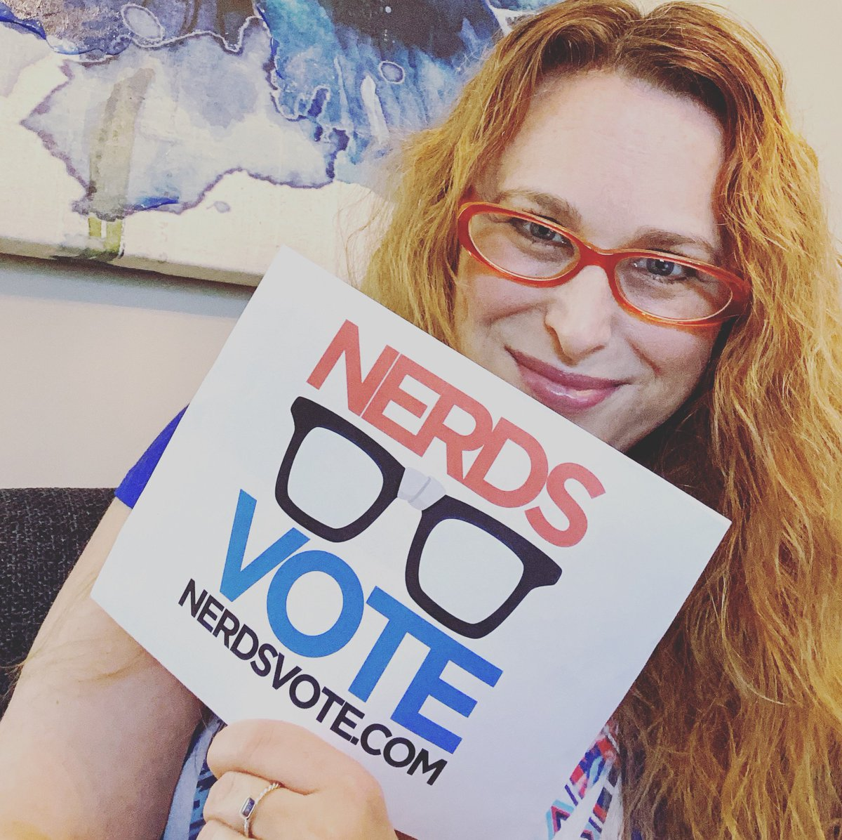 Proud nerd. Proud voter. Happy 4th! @nerdsvote nerdsvote.com Register today! #vote