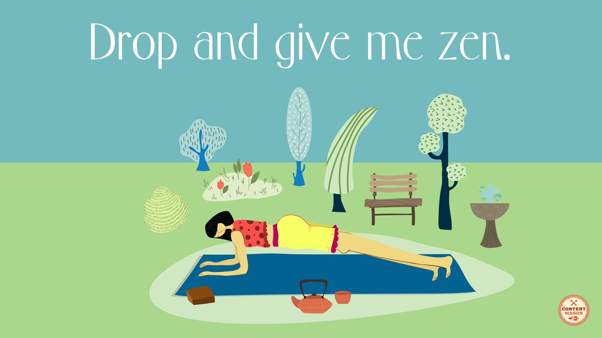 Drop and give me zen. #Yoga #SelfcareSaturday <br>http://pic.twitter.com/FMRvDNdaSI